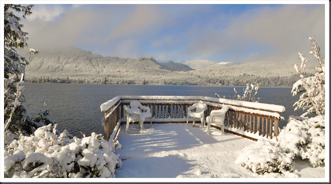 Deck in the snow @ the lake - bruce witzel photo