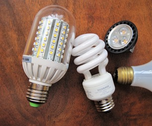 LED and CFL energy efficient lightbulbs - bruce witzel photo
