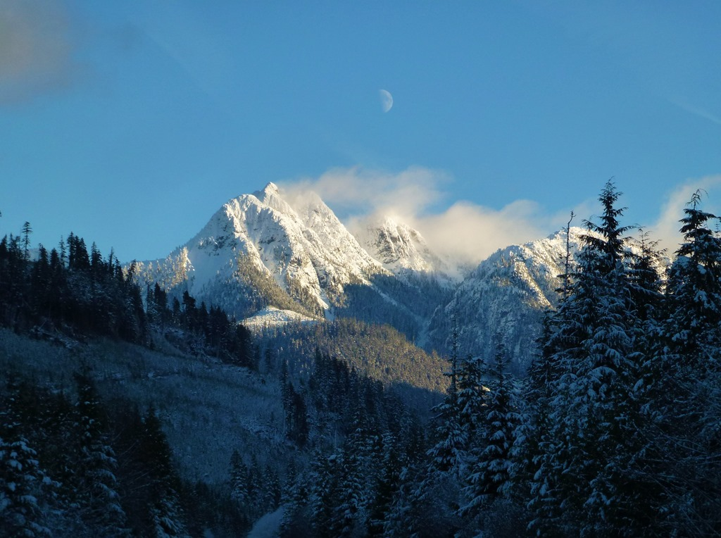 Mountains north of Sayward BC on Vancouver Island, Dec. 6, 2016, - bruce witzel photo