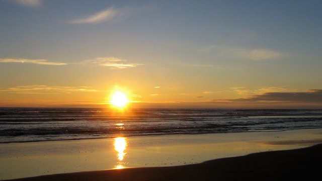 Pacific coast sunset - bruce witzel photo