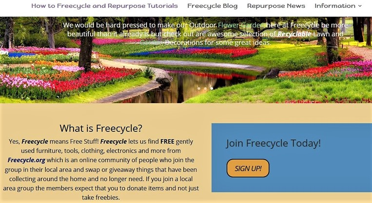 ScreenCapture of Freecycle website-2