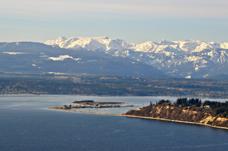 January 7, 2017 - A view of Comox Valley - my birth place.