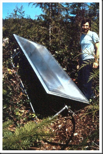 Solar Water Heater - circa 1986 - Bruce Witzel photo