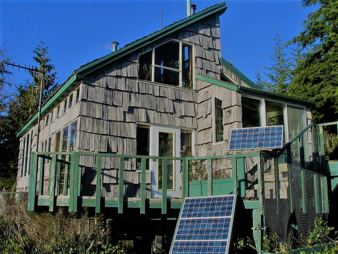 cabin & solar panels - mid 90's - bruce witzel photo