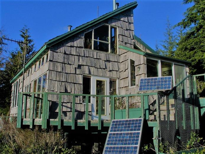 cabin & solar panels - mid 90's - bruce witzel photo