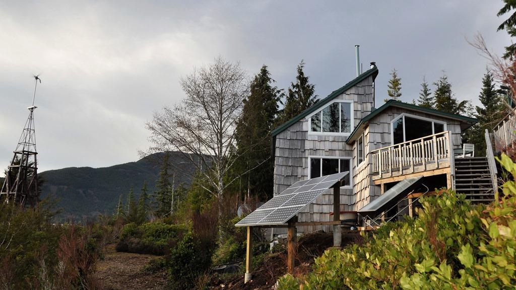 Cabin, wind genertor and solar panels, Feb. 22-2010 - bruce witzel photo