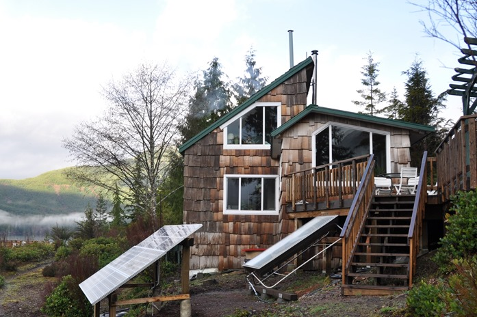 Cabin with solar panels, Feb. 20-2010 - bruce witzel photo