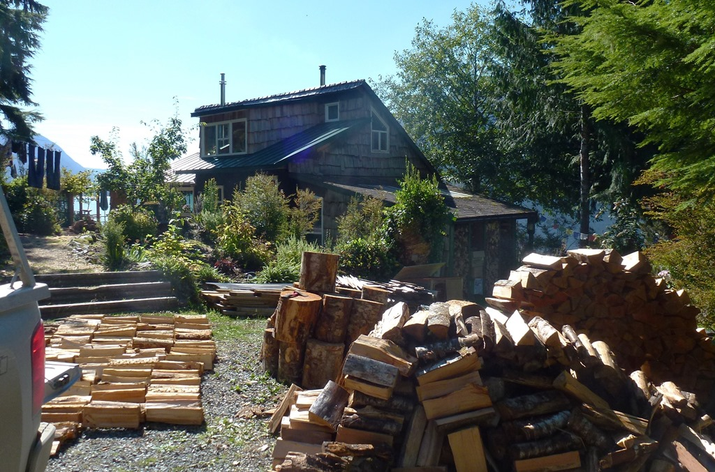 Drying our firewood supply, Sept. 12-2012 - francis guenette photo