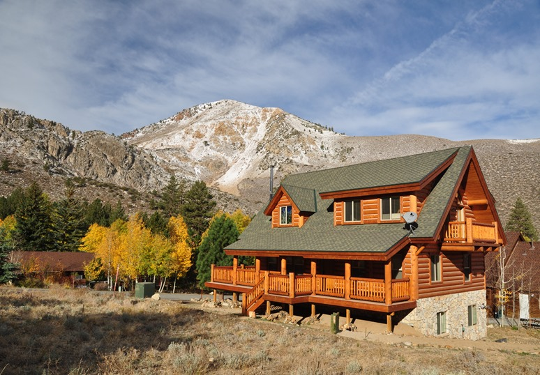 Empty vacation home in the Sierra Nevada Mountains, California Oct 23-2012 - buce witzel photo