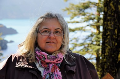 Fran at the real Crater Lake, Oct 16-2012 - bruce witzel photo