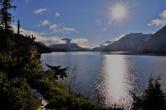 Lake at noon, Dec 14,2016 - Solar South - bruce witzel photo