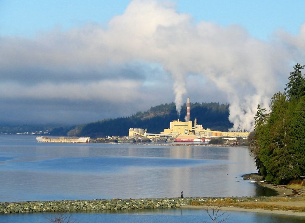 Pulp and Paper Mill at Powell River, BC - bruce witzel photo
