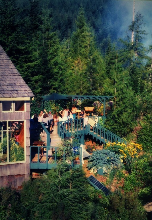 View of our wedding from the windmill tower on August 16, 1997 - dave witzel photo