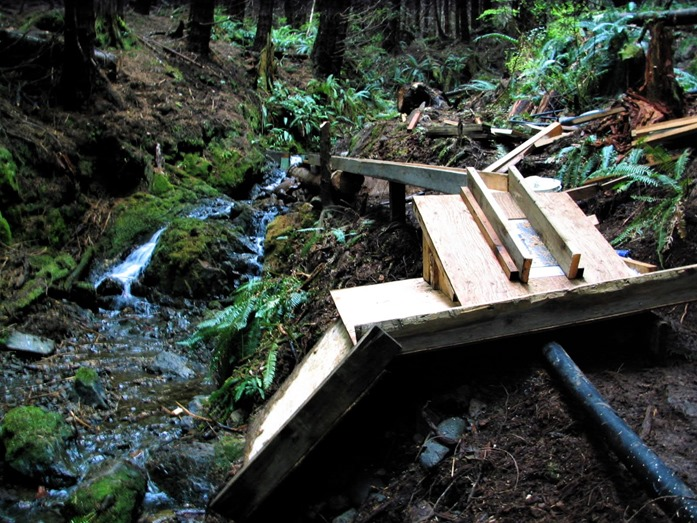 Flume under construction with no water diverted - bruce witzel photo