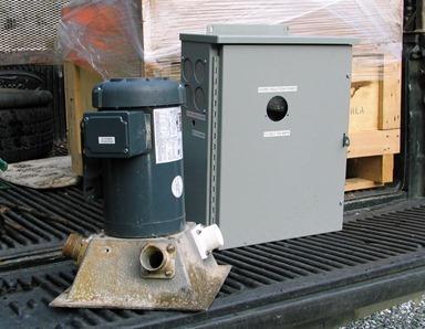 Hydro turbine and transformer before installation - bruce witzel photo