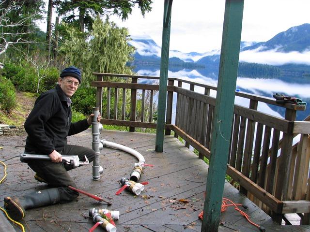 Peter Talbot building turbine valves - bruce witzel photo