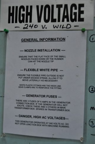 Turbine warning sign - bruce witzel photo
