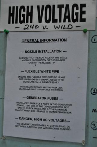 Turbine warning sign - bruce witzel photo