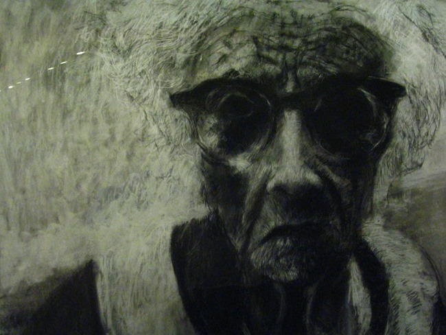 Charcoal drawing in Ottawa Art Gallery - artist unknown
