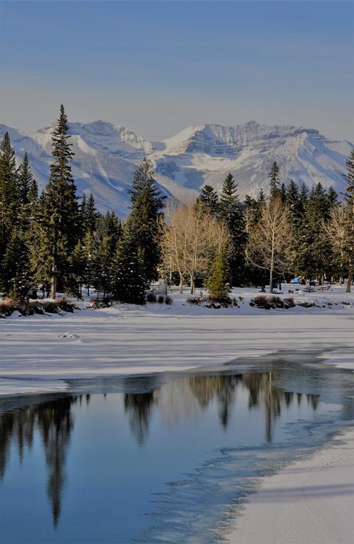 Bow River in Banff Alberta, Nov. 7-2017 -bruce witzel photo