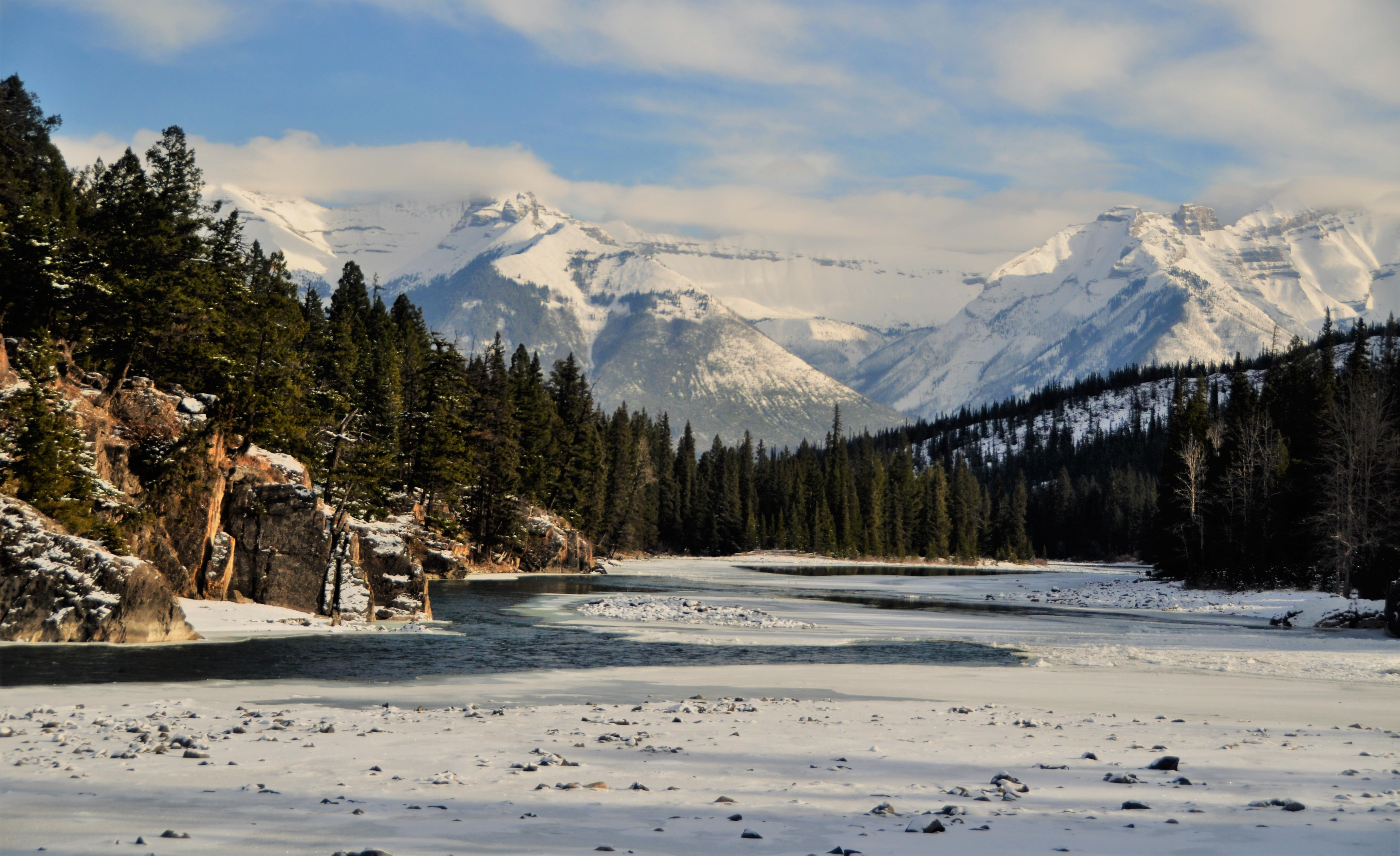 Bow River near Banff Alberta, Nov. 8-2017 - bruce witzel photo
