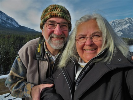 Bruce and Fran in Banff Nov.7-2017 - fran guentte photo