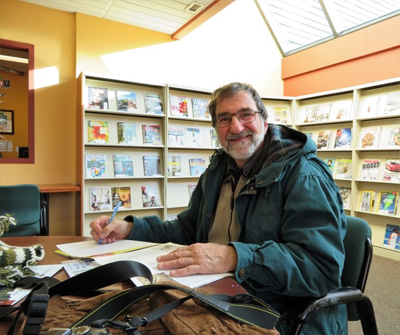 Bruce in the Banff Public Library Nov. 7-2017 - francis guenette photo