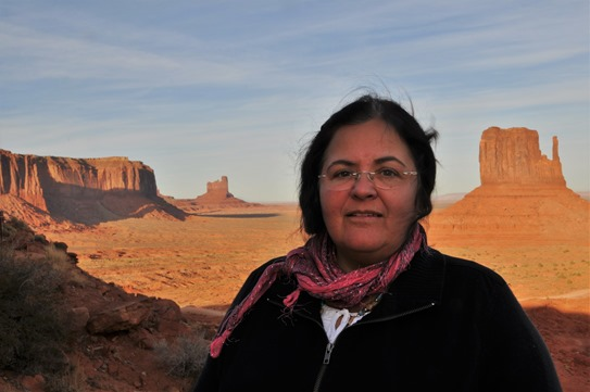 Fran at Monument valley - October 2010