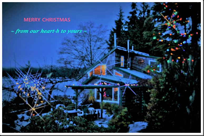 Our cabin at the lake, Christmas card Dec. 25-2017 - bruce witzel photo