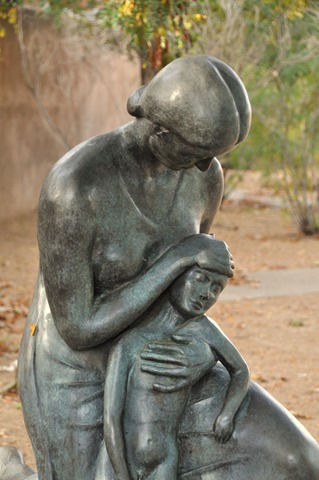 Statue of mother and child, un-recalled location - bruce witzel photo