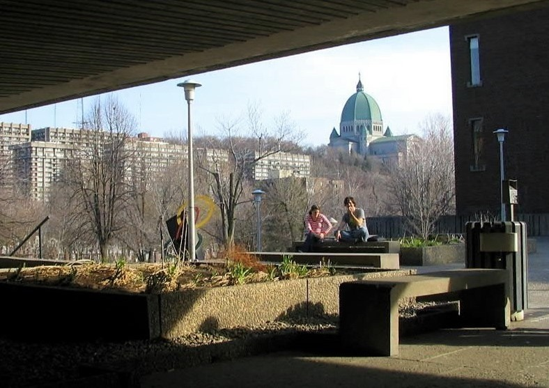 École Polytechnique de Montréal with St. Joseph's Oratory in the background -bruce witzel photo (2)