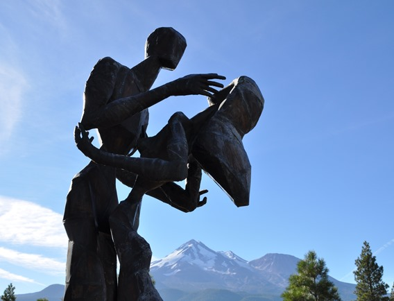 Liviing Memorial Sculpture Garden with 58,000 Pines near Weed California - by Bruce Witzel