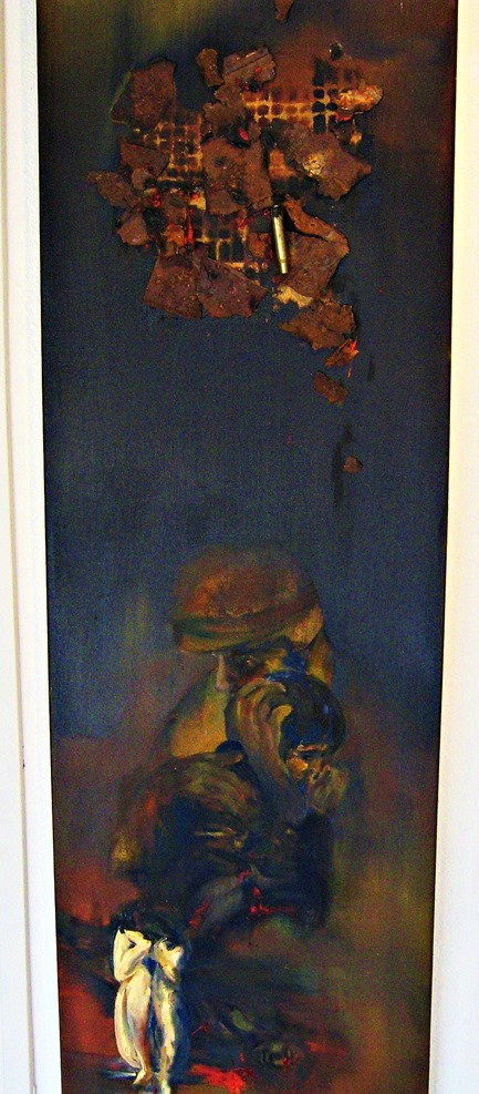 Art from Tubac Arizona (edited) - painting entitled Grief Knows No Boundaries - artist unknown
