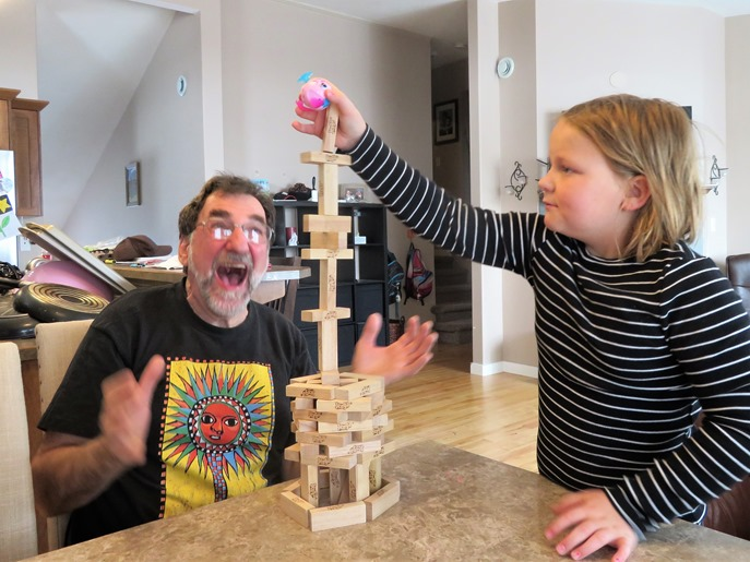 Building with blocks on Easter 2018 - francis guenette photo