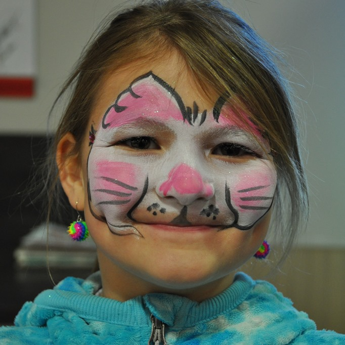 Emma at Easter 20118 at the Co-op facepaint - bruce witzel photo