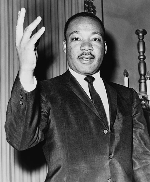 Martin Luther king Jr. - photo by Dick DeMarsico - reproduction rights transferred to Library pf Congress. No copyright restriction known
