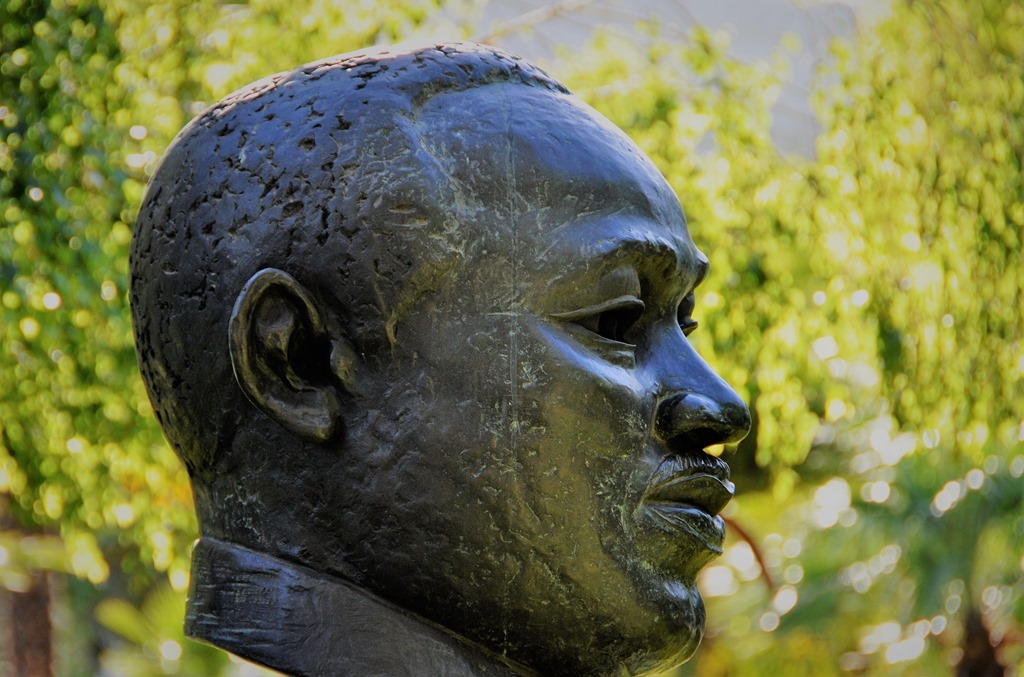 Martin Luther King Jr. statue at Fresno California May 29, 2010 - bruce witzel photo