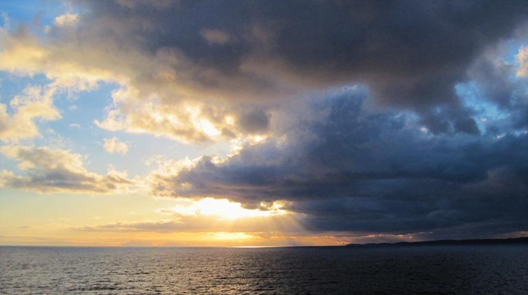 Sunrise on the Salish Sea - bruce witzerl photo