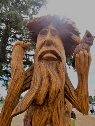 Campbell River Chain Saw Sculpture (2) July 2018- bruce witzel photo