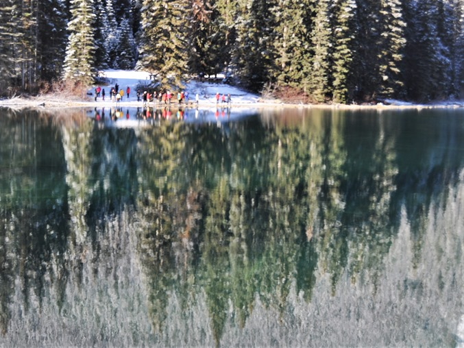 Emerald Lake View 6(tourists) Yoho National Park British Columbia Nov 10 -2018 - bruce witzel photo