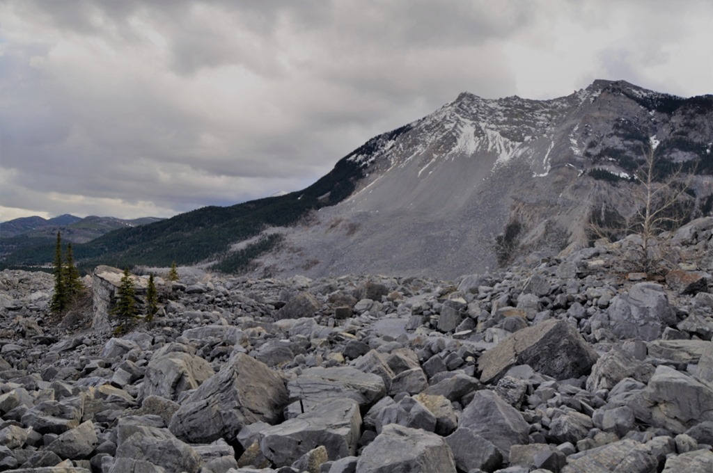Frank Slide, 1903, Alberta - photo Nov3-2018 by bruce witzel