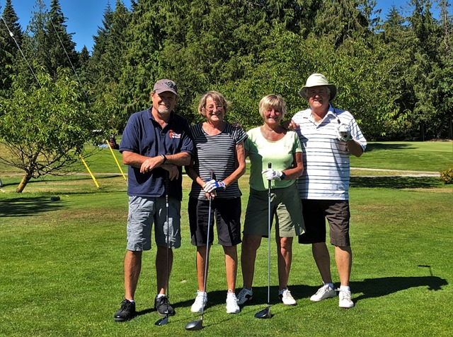 Heather and Rose Witzel with golfing partners in Nanaimo  2018