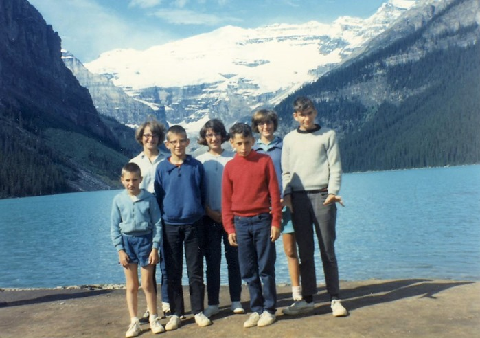Witzel kids at Lake Louise 1965