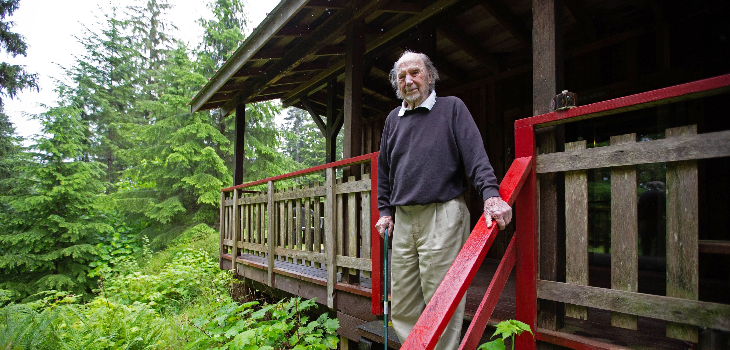 charles brandt at his hermitage in 2018 - photo by grant callegari