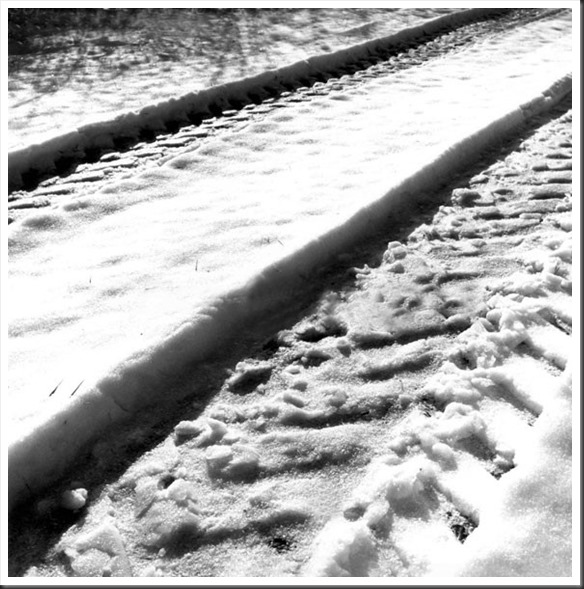 snowtracks - photo by thomas merton