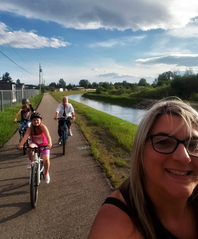 Bike riding in High River, Alberta- kristen keeley photo
