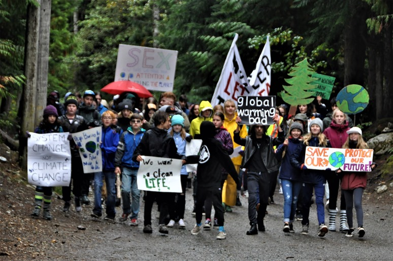 Climate strike at Whistler 3 , BC Sept 27-2019 - francis guenette photo
