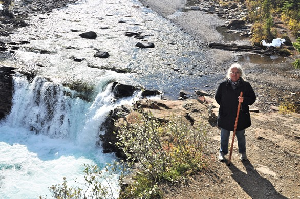 Francis high above Sheep River Falls in Alberta Oct 6-2019 - bruce witzel photo
