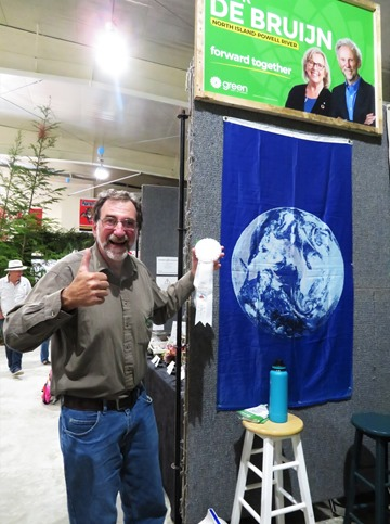 Green Party of Canada  got 3rd prize for semi-commercial  booth at Regional Fall Fair  Port McNeill Sept.7-8 - francis guenette photo
