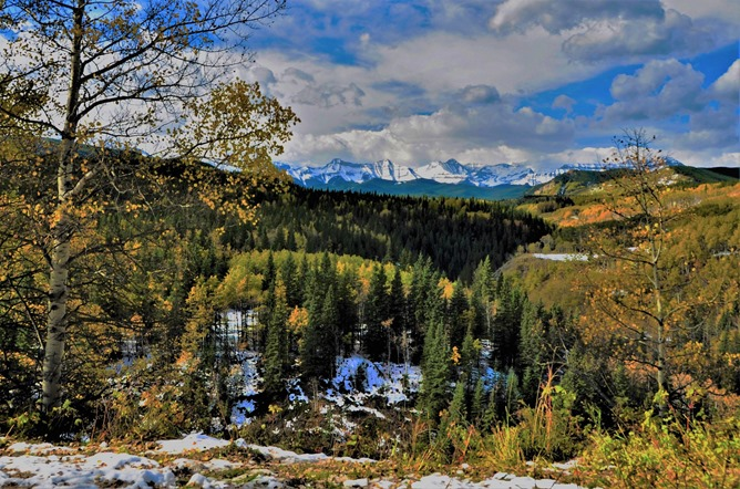 Sheep River Provinical Parkand 4b Rocky Mountains in autumn Oct 7-2019 - bruce witzel photo